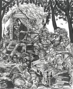 Inktober 2017: Swamp Settlers