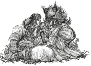 Inktober 2017: Beauty and the Beast