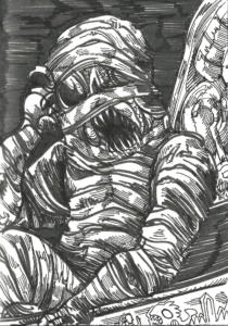 Inktober 2016 : The Mummy Lord