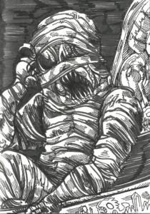 Inktober 2016 : The Mummy Lord
