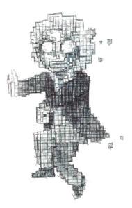 Inktober 2015: 8-bit Zombie