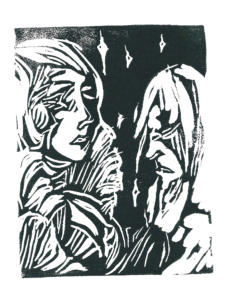 Untitled Print of Two Yet Unnamed Protagonists