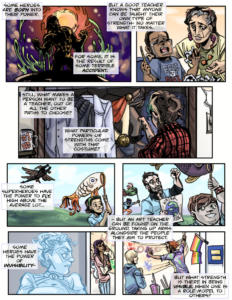 """Art Teacher as Superhero"" p.1"